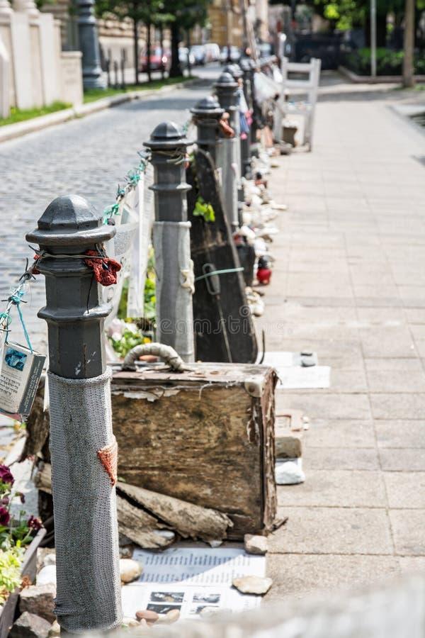 Память еврейских жертв, Будапешт, Венгрия стоковое изображение