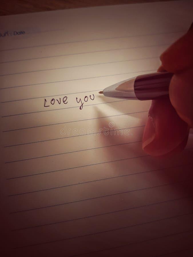 Память и чувство писали в дневник ручкой стоковые изображения