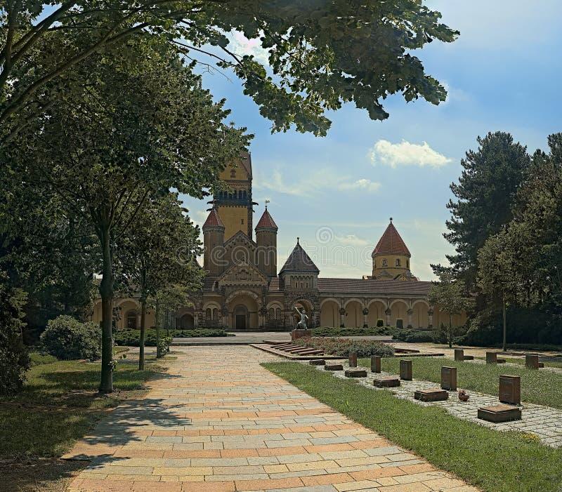 Память упаденное для их родины Мемориал к пленникам фашизма на южном кладбище в Лейпциге стоковое фото rf