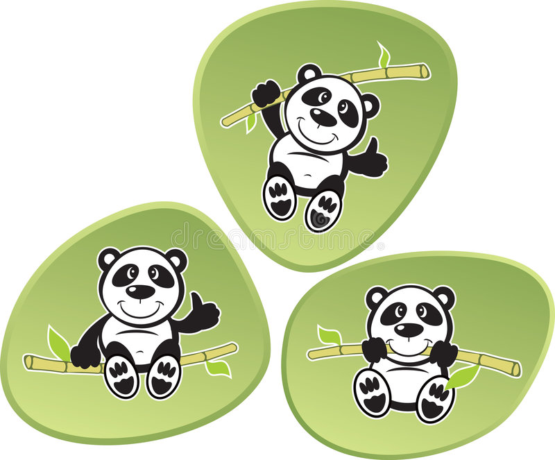 панда акробатики иллюстрация штока