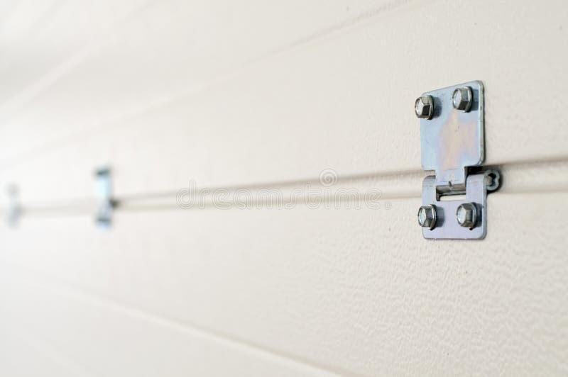 Панели двери гаража from inside стоковое изображение rf