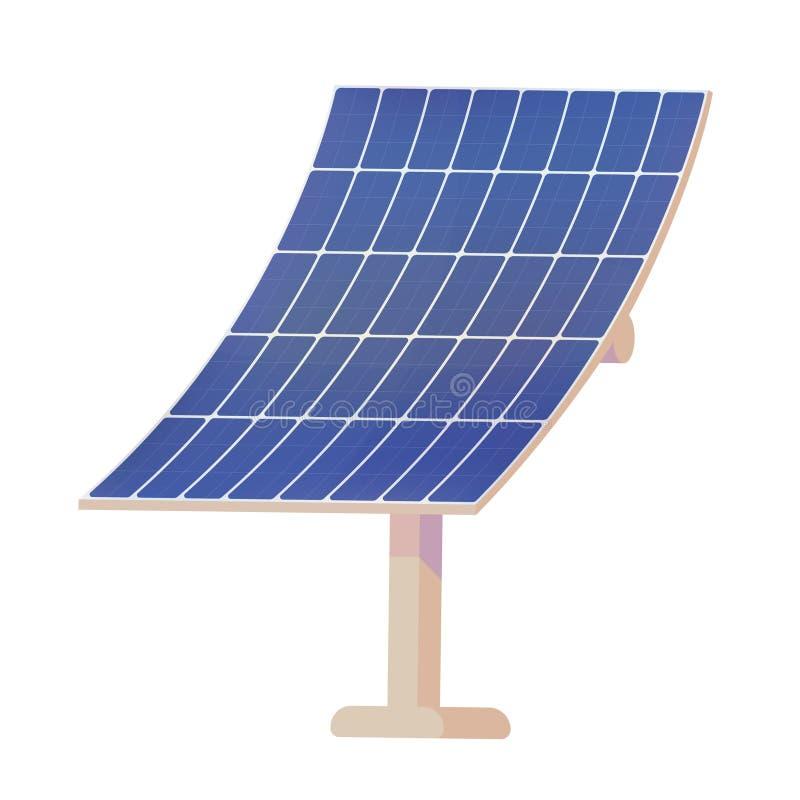Панели для преобразовывать энергию солнца в электричество иллюстрация штока