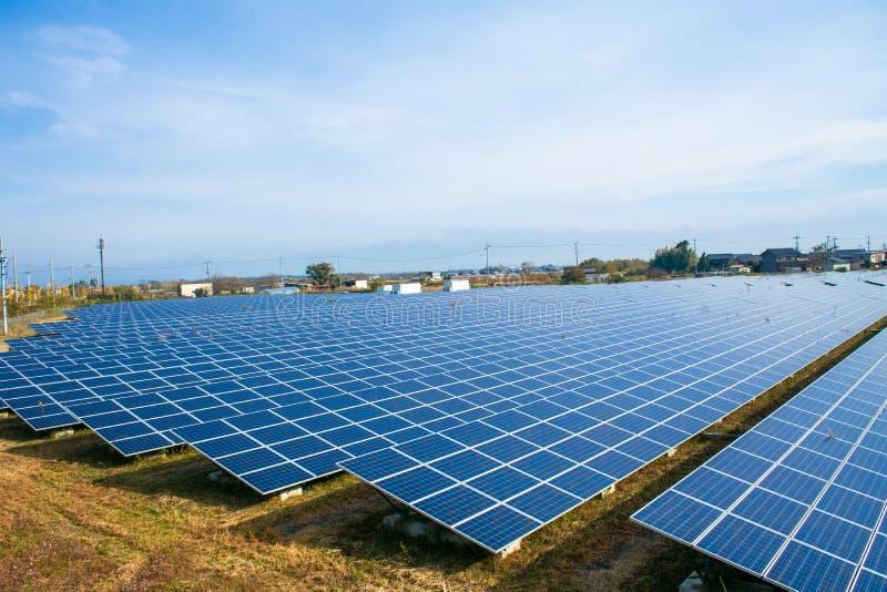 Панели солнечной энергии, фотовольтайческие модули стоковые фотографии rf