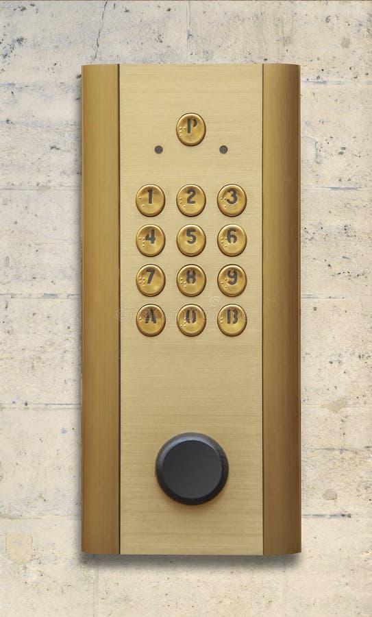 Панель дверного звонока внутренной связи стоковое изображение