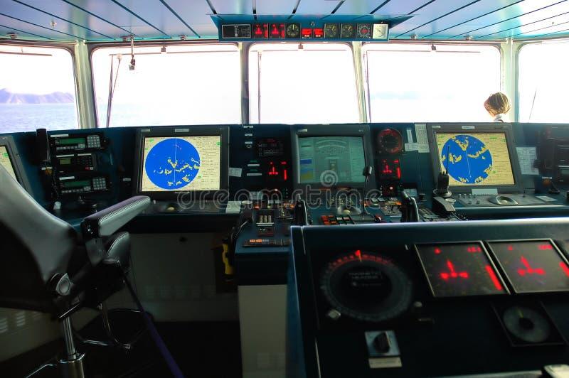 панель команды сигналов тревога стоковая фотография
