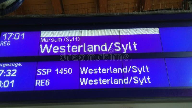 Панель одно Trainstation стоковая фотография rf