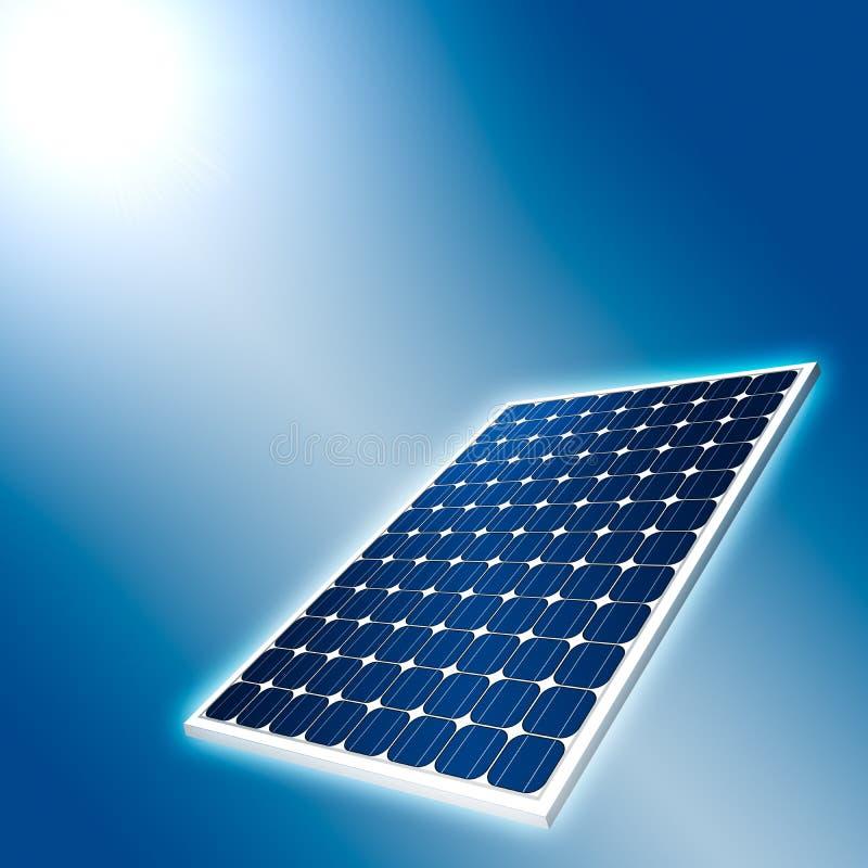 панель принципиальной схемы солнечная иллюстрация штока
