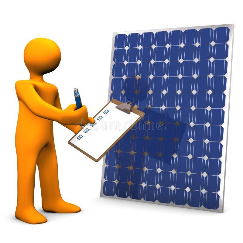 Панель солнечных батарей Clipboard иллюстрация вектора