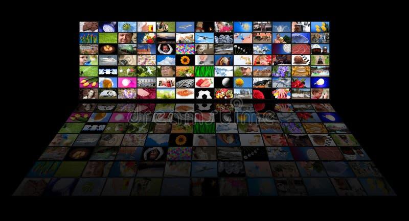 панель s кино показывая tv стоковые фотографии rf