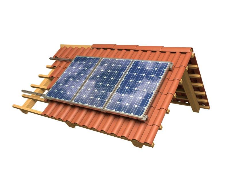 Панели солнечных батарей иллюстрация штока