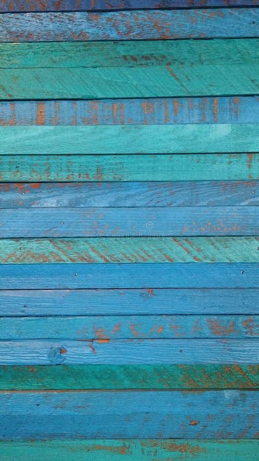 Панели Teal деревянные стоковые фотографии rf
