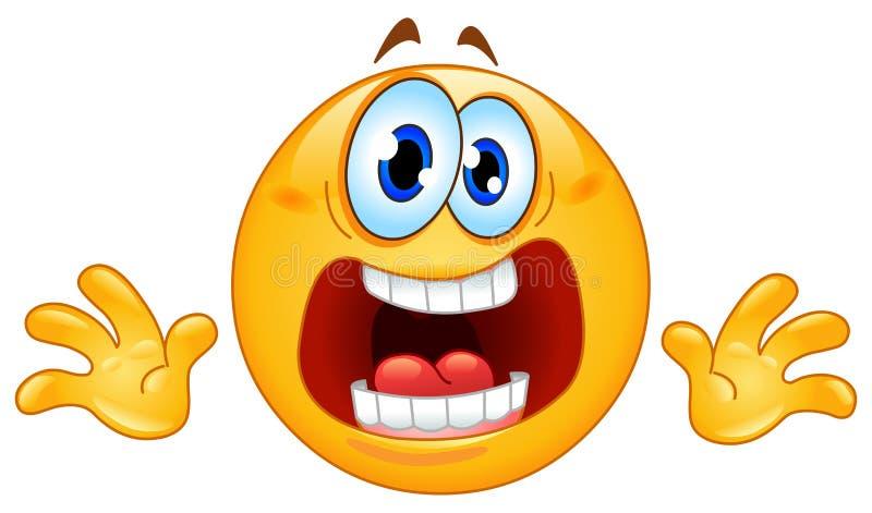 паника emoticon бесплатная иллюстрация