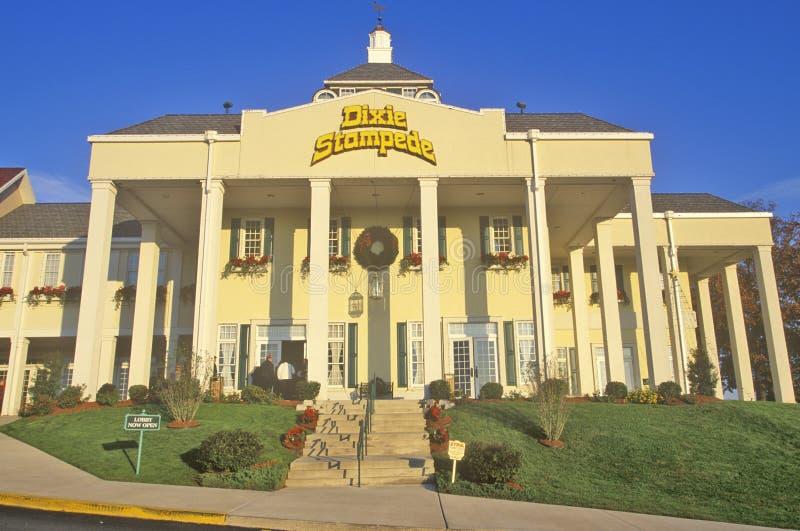 Паническое бегство Dixie, развлекательный центр горы Ozark, Branson, MO стоковые фото