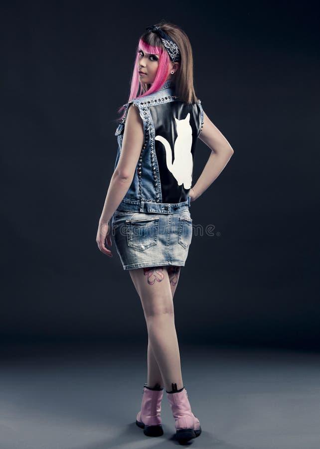 Панковская девушка стоковое изображение rf