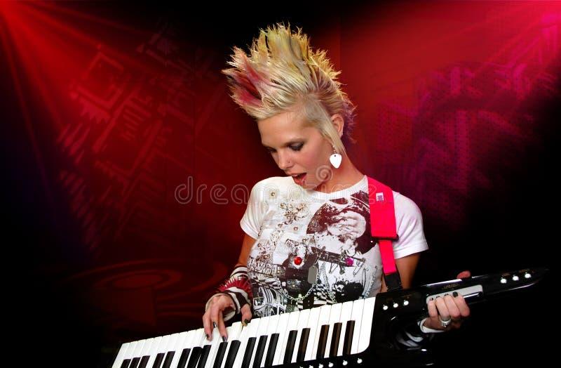 панк музыканта стоковая фотография
