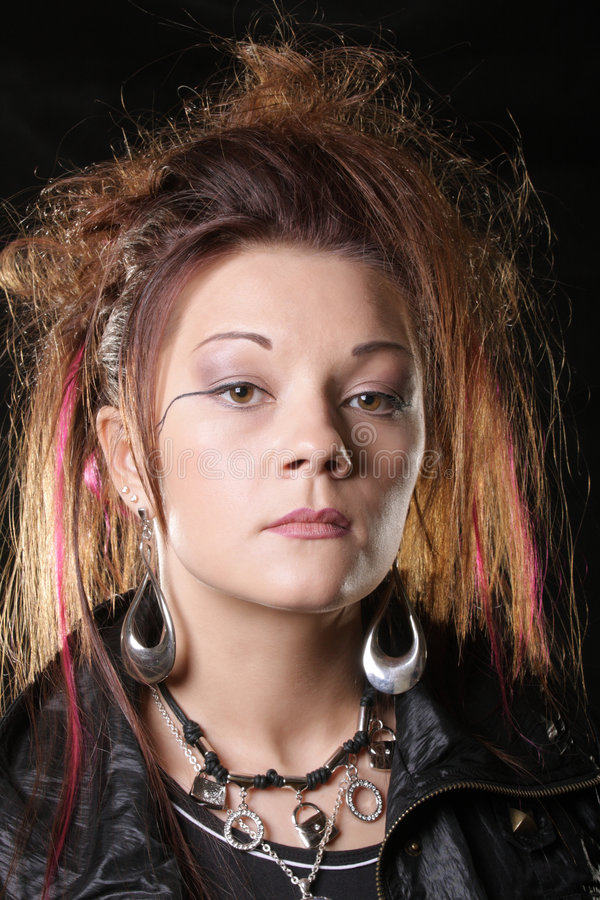 панк фото девушки стоковое фото rf