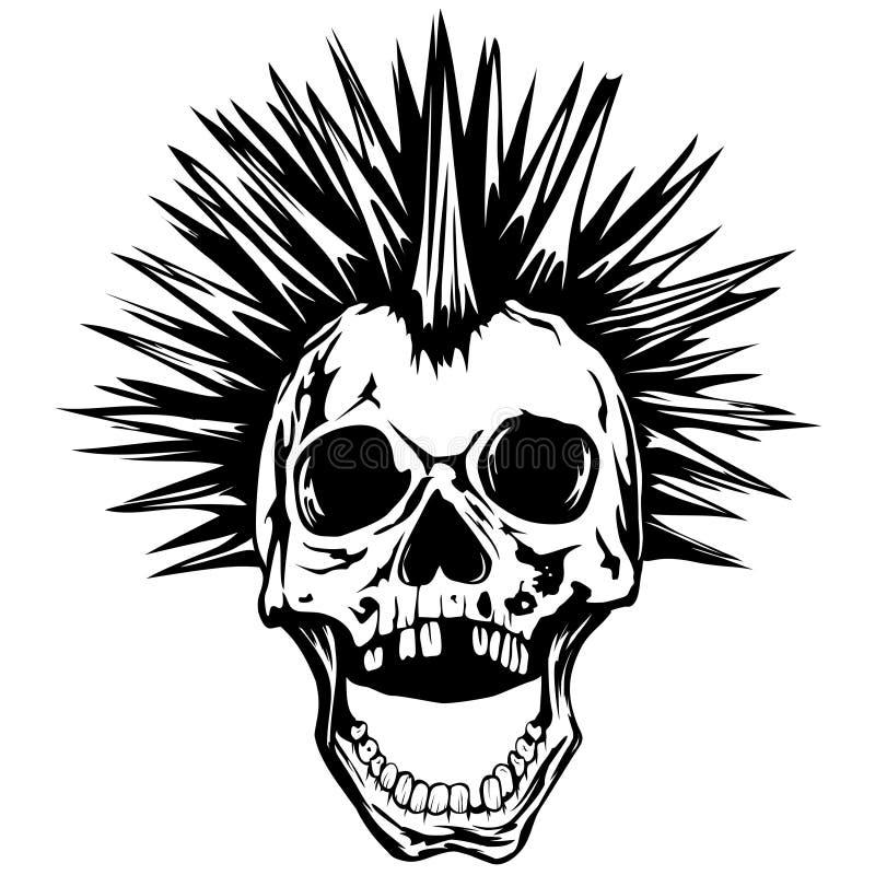 Панк черепа иллюстрация штока