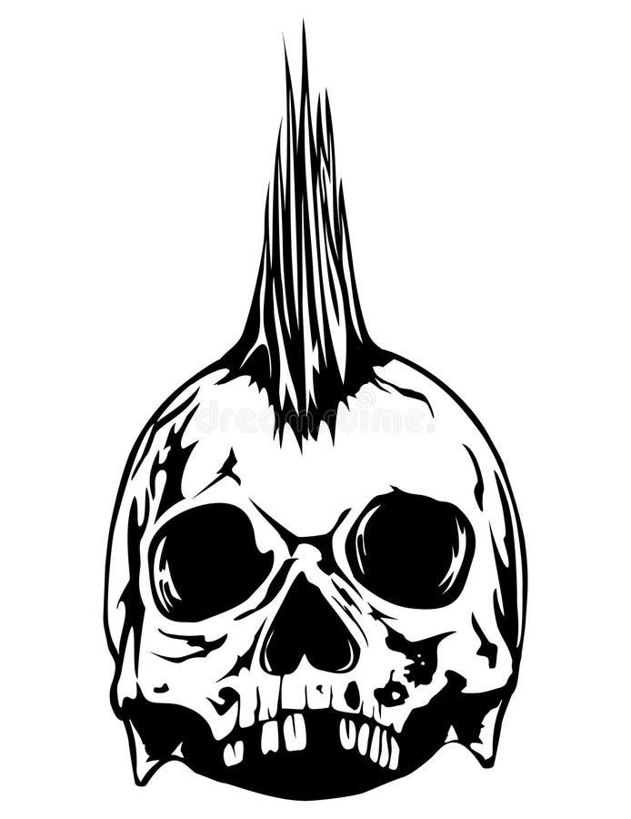 Панк черепа иллюстрация вектора