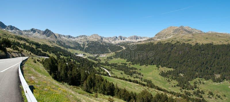 Панорама Андоры Пирене стоковое фото