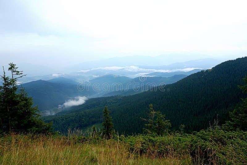 Панорама ландшафта горы, красота природы стоковые изображения rf