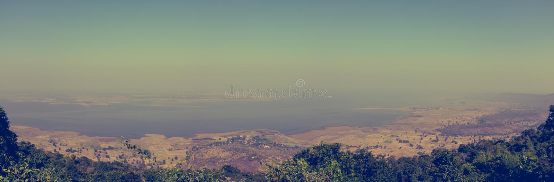 Панорама ландшафта лета E напольно стоковое фото rf