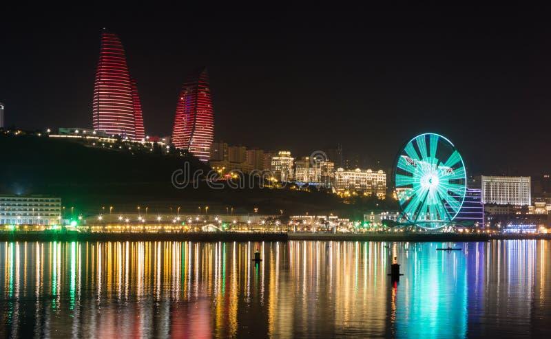 Панорама Баку стоковая фотография rf