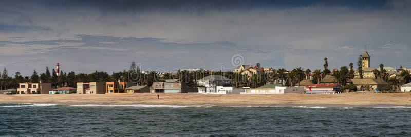 Панорама береговой линии Swakopmund стоковое изображение rf