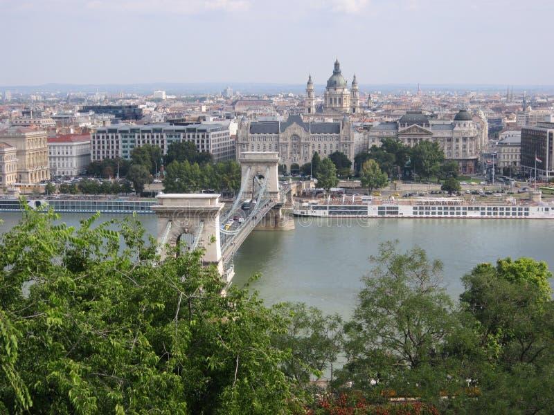 Панорама Будапешта стоковое изображение