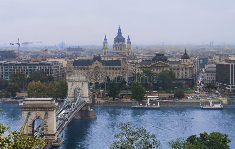 Панорама Будапешт - Венгрия горизонта города стоковое изображение rf