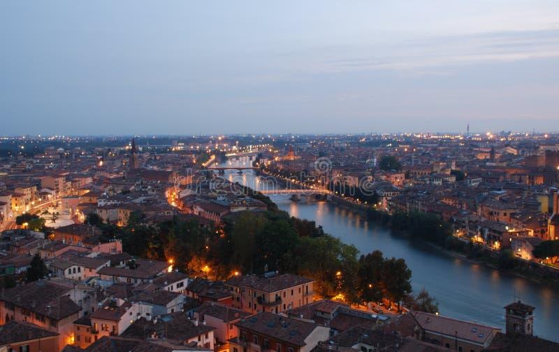 Панорама Верона стоковое изображение rf