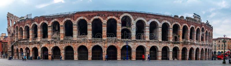 Панорама Вероны di арены стоковое изображение