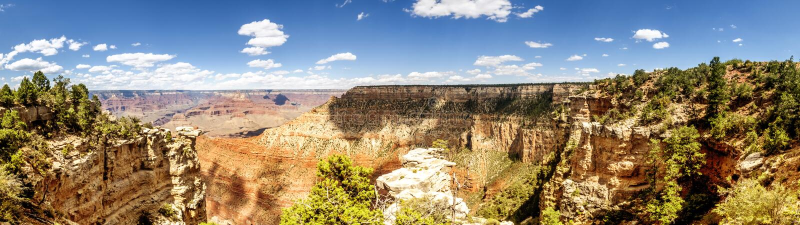 Панорама: Взгляд заводи трубы - гранд-каньон, южная оправа, Аризона, AZ стоковая фотография rf