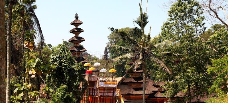 Панорама виска Бали в Ubud, Индонезии стоковые фото