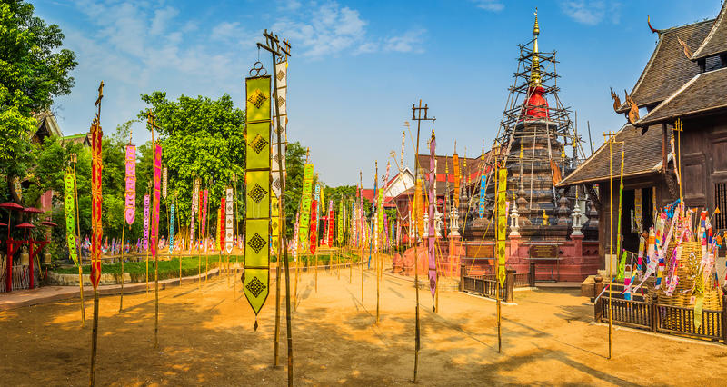 Панорама виска Phan Дао стоковая фотография rf