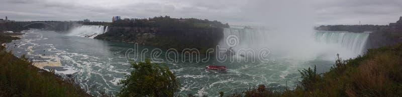 Панорама водопадов благоустраивает Ниагарский Водопад, Торонто стоковое фото rf