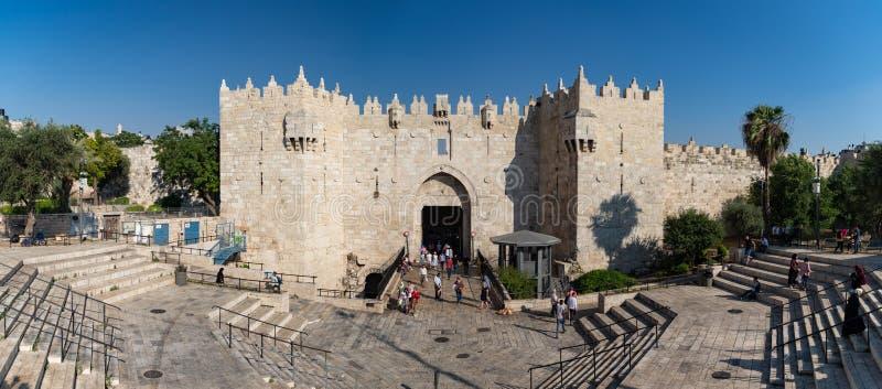 Панорама ворот Дамаска стоковые изображения rf