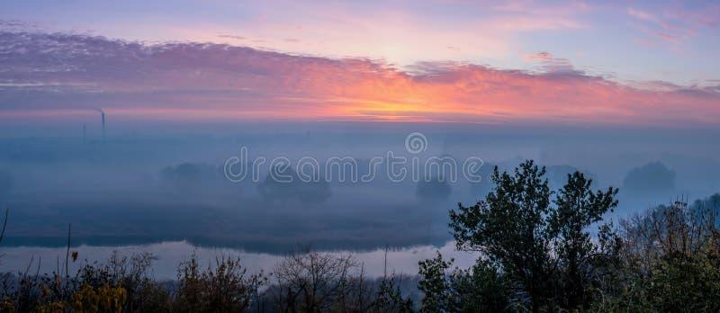 Панорама восхода солнца стоковые фотографии rf