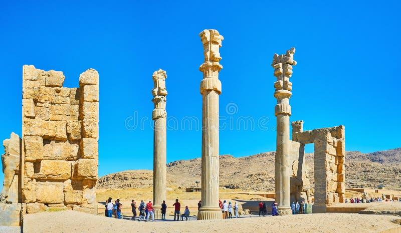 Панорама всего строба Persepolis наций, Ирана стоковые фотографии rf
