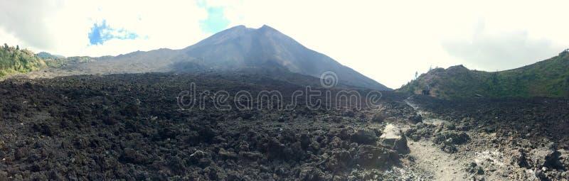 Панорама вулкана стоковые фотографии rf