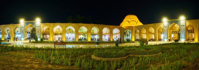 Панорама выравнивать квадрат Ganjali Khan, Керман, Иран стоковая фотография rf