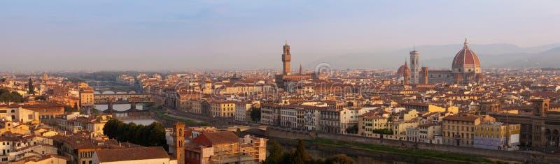Панорама Флоренса на surise стоковые фото