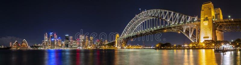 Панорама гавани Сиднея стоковое изображение rf