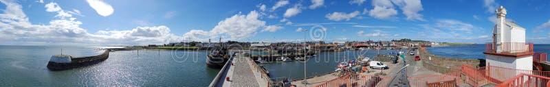 Панорама гавани Arbroath стоковая фотография rf
