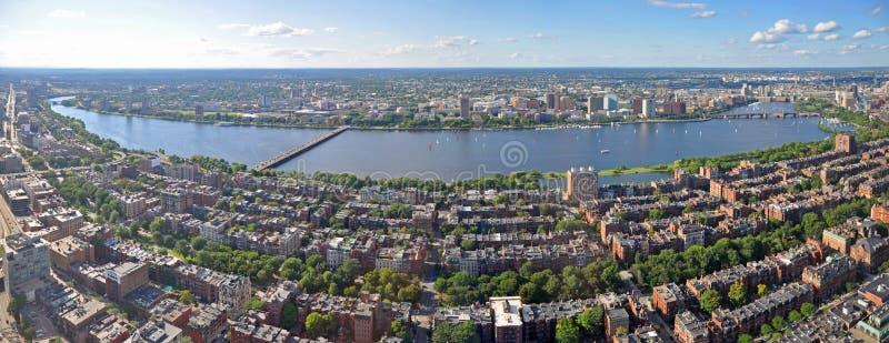 Панорама горизонта Бостона, Массачусетс, США стоковая фотография