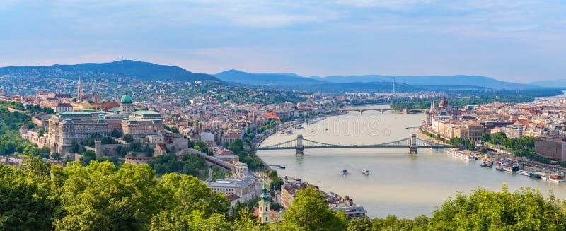 Панорама горизонта города Будапешта - Венгрия стоковое фото