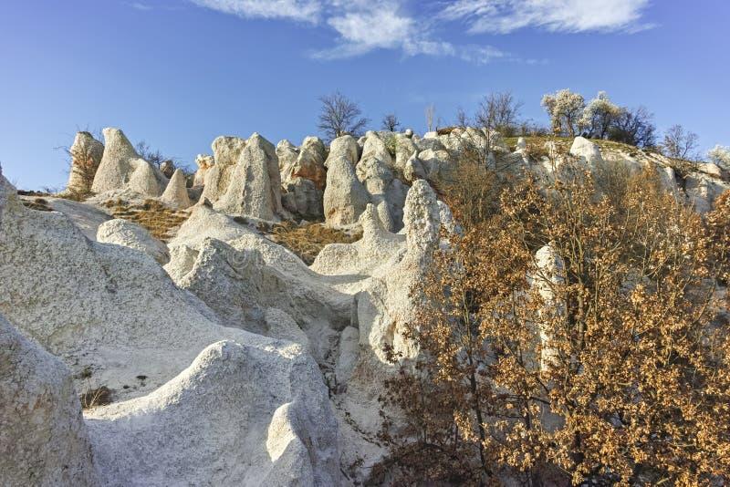 Панорама горной породы каменная свадьба, Болгария стоковое изображение
