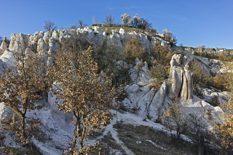 Панорама горной породы каменная свадьба, Болгария стоковые фото