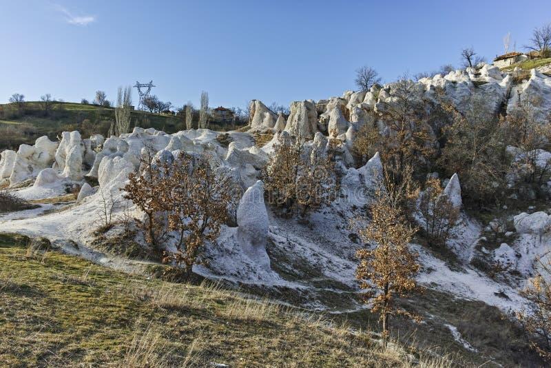 Панорама горной породы каменная свадьба, Болгария стоковое фото