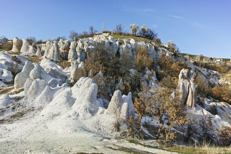 Панорама горной породы каменная свадьба, Болгария стоковая фотография