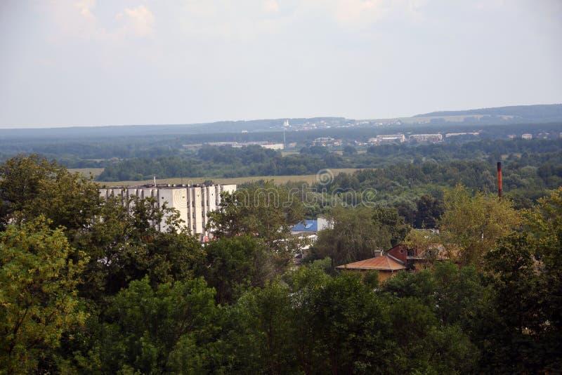 Панорама города Владимира, России, в лете стоковая фотография